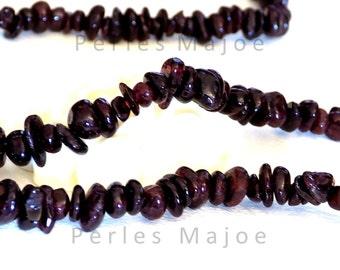 Lot de 300 perles minérales naturelles couleur rouge grenat différentes dimensions