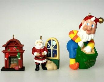 Hallmark Christmas Holiday Keepsake Miniature Ornament Collector Club Lot of 3