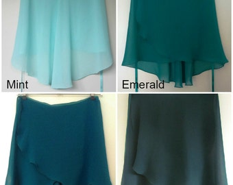 Ballet Wrap Skirts - Green Collection