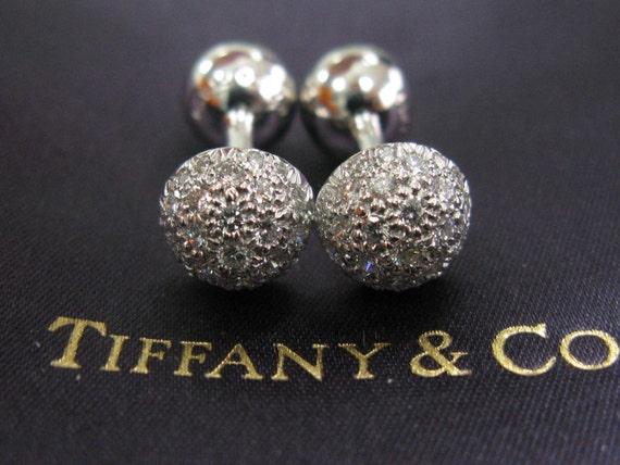 tiffany co cuff links platinum etoile pave diamond cuff. Black Bedroom Furniture Sets. Home Design Ideas