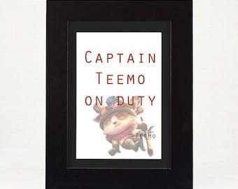 League of Legends Teemo 4x6 print