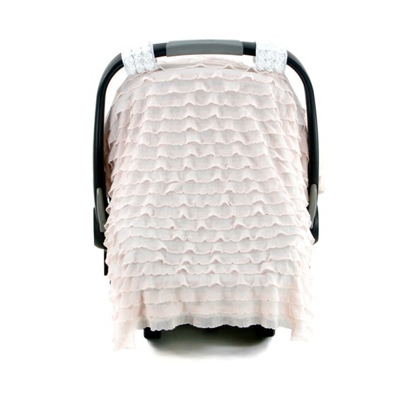 Car Seat Covers For Girls Ruffle Floret Rose Quartz By KDCombo
