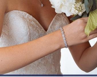 Wedding Bracelet, Bridal Bracelet, White Gold Bracelet, Crystal Bracelet, Rhinestone Bracelet, Bridal Cuff, Wedding Cuff, Bridesmaids Cuff