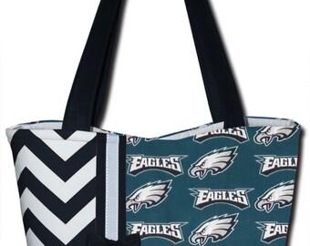 NEW Handmade Philadelphia Eagles Football NFL Handbag Purse
