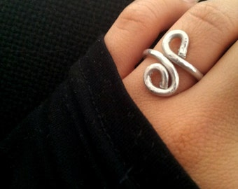 Silver Aluminum Infinity Adjustable Ring For Her Women Jewellery