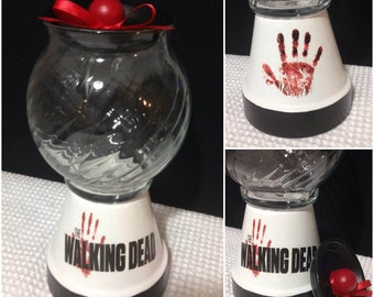 The Walking Dead Candy Jar Gumball Machine Custom Gift  OR Fear The Walking Dead