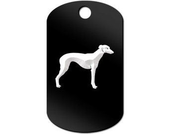 Whippet Engraved GI Tag Key Chain Dog Tag english - MDT-1092