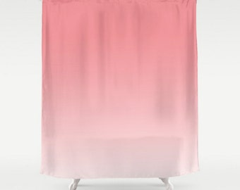Pink Ombre Shower Curtain Strawberry Ice Pantone Color Light Pink Pastel  Home Bath Room Decor CustomOmbre curtains   Etsy. Pale Pink Shower Curtain. Home Design Ideas