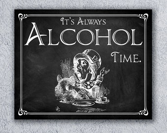 Alice in Wonderland Chalkboard Wedding Sign Printable Wedding Sign Wedding Alcohol Sign Wedding Decor Instant Digital Download Drink Me 104