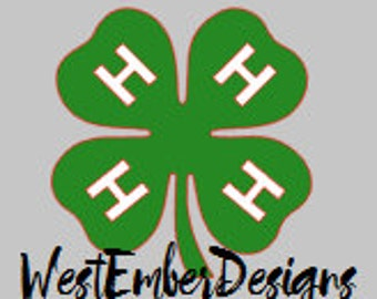 4-H Clover Decal