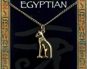 egyptian cat chain necklace