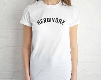 Herbivore T-shirt Top Shirt Tee Summer Fashion Blogger Slogan Vegan Vegetarian