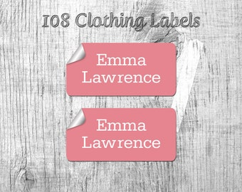 108 Stick on Clothing Label, Custom Label, Kids Label, School Label, Name Label, Back To School Label, Label, Container Label, Sticker Label