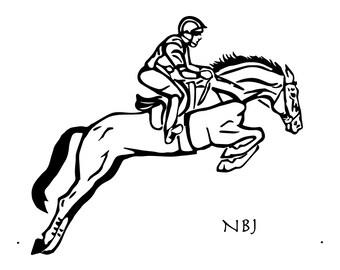 Steeplechaser (black and white)