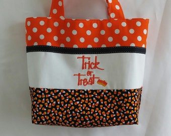Trick or Treat Bag * Halloween Bag * Halloween Tote * Candy Corn Tote Bag * Candy Corn Trick or Treat Bag * Halloween Purse *