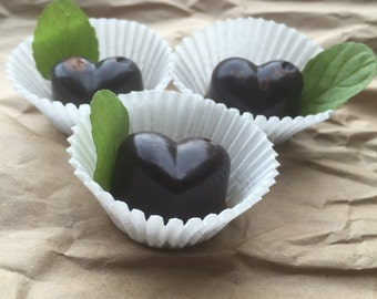 Dark Chocolate Mint Hearts Wax