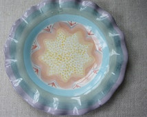 MacKenzie-Childs Fluted Pottery Plate - Brittany - Retired