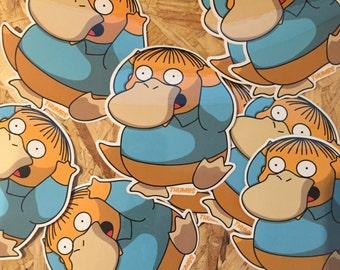Ralph x Psyduck Pokemon Vinyl Die Cut Sticker