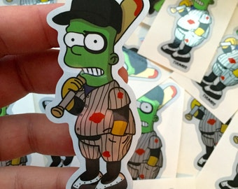 Bart x The Furies Brushed Alloy Die Cut Sticker