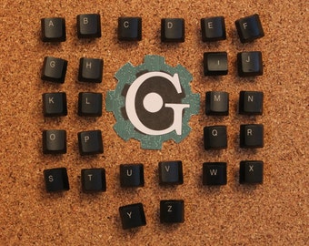Keyboard Push Pins - Alphabet