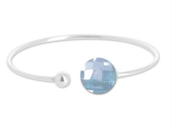Silver bracelet decorated with swarovski elements