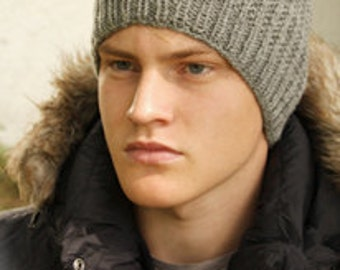 Man hat, 100% wool, superwash, hand knitted, gift for him, wholesale price