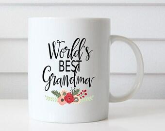 World's best grandma mug, Grandma Mug, Grandma Cup, Grandmother gift