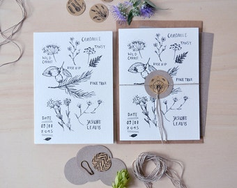 Forest Meadow Finds - Folded Card