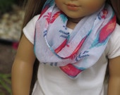 Colorful Print Infinity Scarf - Handmade to fit like American Girl Doll Clothes, 18 inch doll clothes