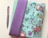 A5, Personal, Pocket Planner Reversible Protective Pouch - Mermaid Planner Pouch - Made to Order
