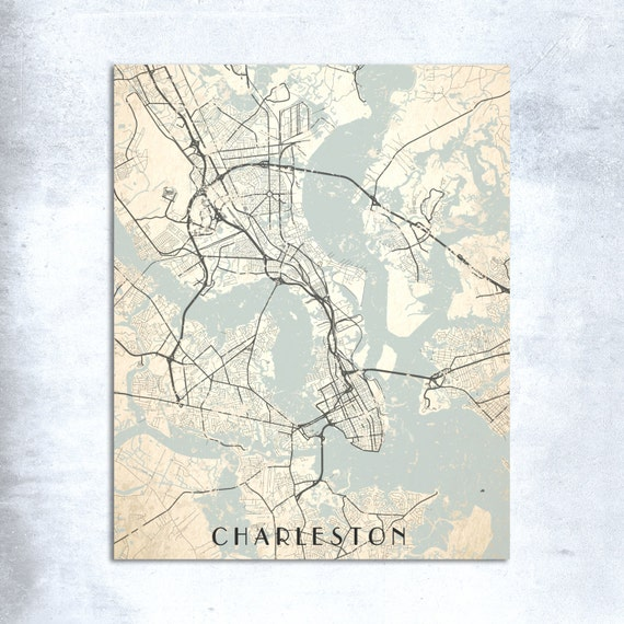 Charleston canvas print sc south carolina retro neutral gray for T shirt printing charleston sc