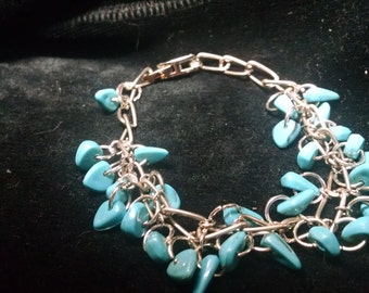 Turquoise n chain bracelet