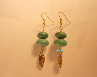 Turquoise gems earrings