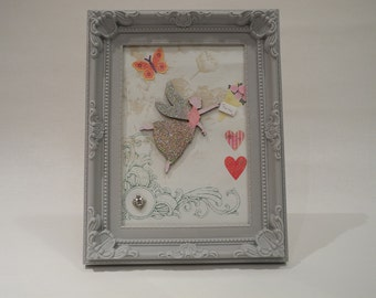 Fairy picture in grey frame