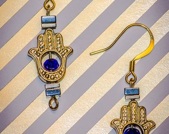 Golden Hand - Dangle Earrings