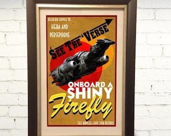 Firefly Serenity Travel Poster 11x17 Print