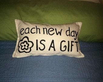 Each New Day Pillow