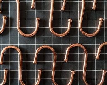 Copper S hooks