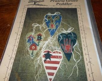New pattern by The Prairie Grove Peddler, Folk Art Hearts #307