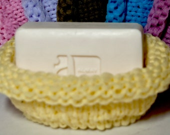 Hand Knitted Nylon Soap Caddy