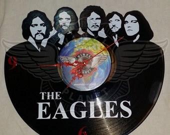 Vinyl Wall Clock THE EAGLES