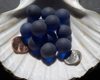 Sea Glass Marbles - 10 to 50 Dark blue