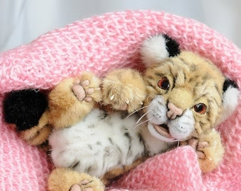 realistic tiger cub Teddy Bear friend tiger OOAK tiger cub Yaniv
