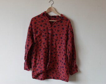 Vintage Red Star Button Up Shirt