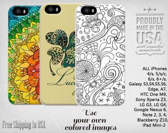 mandala phone case, adult coloring phone case, iphone 6 phone case, samsung galaxy phone case, personalized phone case, android phone case
