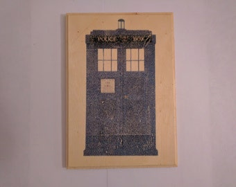 Doctor Who Inspired Plaque