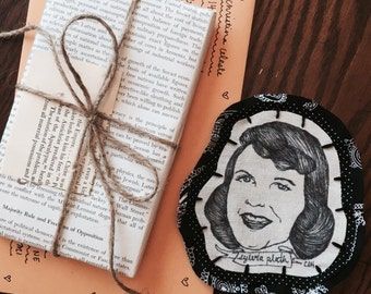 Handmade Sylvia Plath Patch
