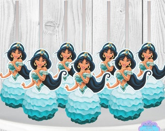 Princess Jasmine Cake Pop Toppers, Cupcake Toppers INSTANT DOWNLOAD