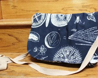 Natural Print Messenger Bag