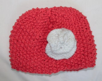 Newborn Hat with Rose